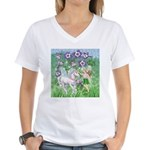 Fairy Unicorn Women's V-Neck T-Shirt