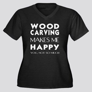 Wood carving Plus Size T-Shirt