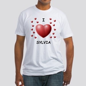 I Love Sylvia - Fitted T-Shirt