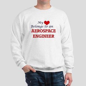 My Heart Belongs to an Aerospace Engine Sweatshirt