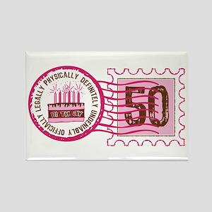 Birthday Stamp 50 Rectangle Magnet