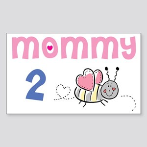 Mommy 2 Bee Rectangle Sticker