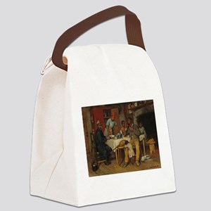 A pastoral Visit by Richard Norri Canvas Lunch Bag