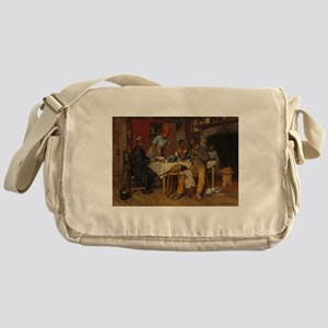 A pastoral Visit by Richard Norris B Messenger Bag
