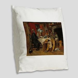 A pastoral Visit by Richard No Burlap Throw Pillow