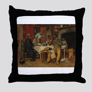 A pastoral Visit by Richard Norris Br Throw Pillow