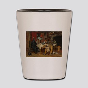 A pastoral Visit by Richard Norris Broo Shot Glass