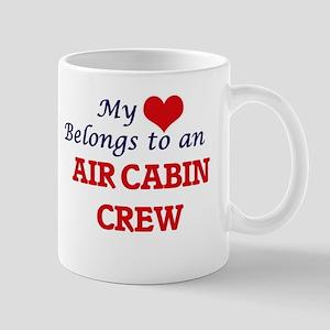 My Heart Belongs to an Air Cabin Crew Mugs