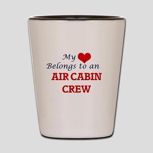 My Heart Belongs to an Air Cabin Crew Shot Glass
