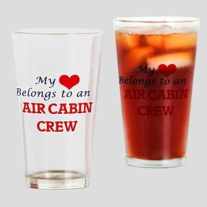 My Heart Belongs to an Air Cabin Cr Drinking Glass