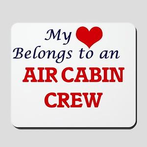 My Heart Belongs to an Air Cabin Crew Mousepad