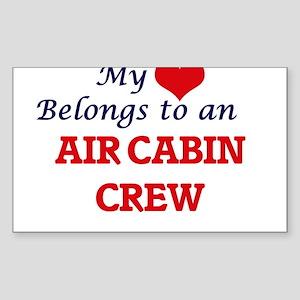 My Heart Belongs to an Air Cabin Crew Sticker