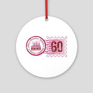 Birthday Stamp 60 Ornament (Round)