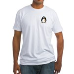 Orange Ribbon Penguin Fitted T-Shirt