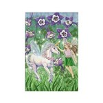 Fairy Unicorn Rectangle Magnet