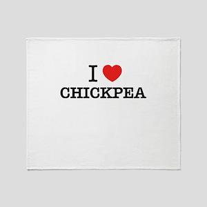 I Love CHICKPEA Throw Blanket