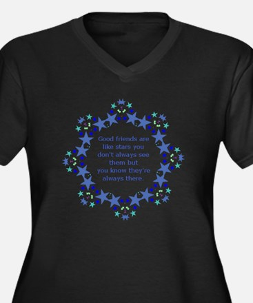 Friends are Like Stars Friendshi Plus Size T-Shirt