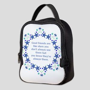 Friends are Like Stars Friendsh Neoprene Lunch Bag