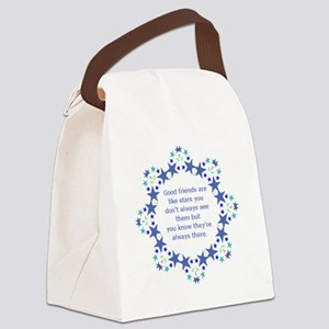 Friends are Like Stars Friendship Canvas Lunch Bag