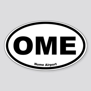 Nome Airport Oval Sticker