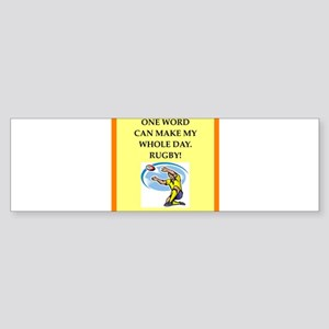 rugby joke Bumper Sticker