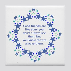 Friends are Like Stars Friendship Quo Tile Coaster