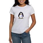 Lavender Ribbon Penguin Women's T-Shirt