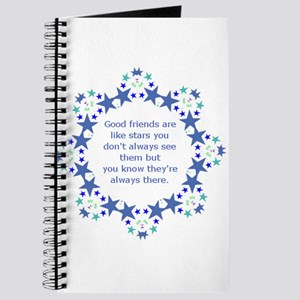 Friends are Like Stars Friendship Quote Journal