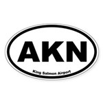 King Salmon Airport Oval Sticker