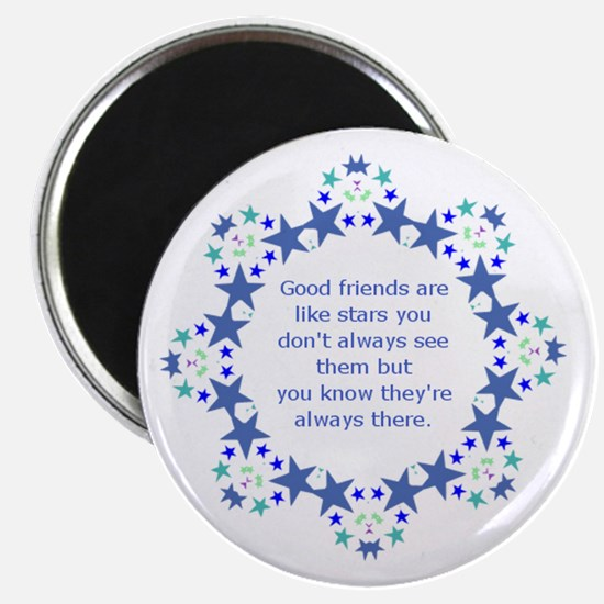 Friends are Like Stars Friendship Quote Magnets