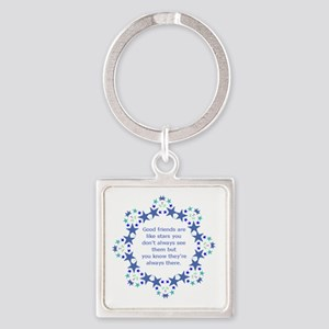 Friends are Like Stars Friendship Quote Keychains