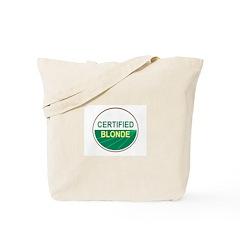 CERTIFIED BLONDE Tote Bag