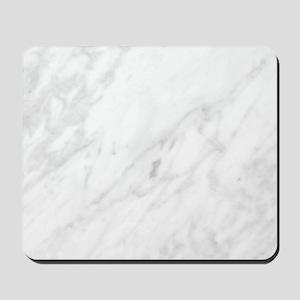White Marble Mousepad