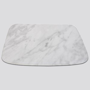 White Marble Bathmat