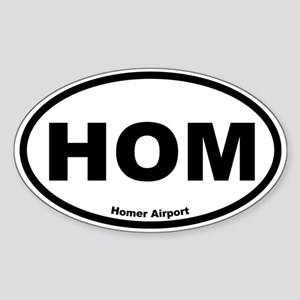 Homer Airport Oval Sticker