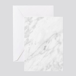 White Marble Greeting Cards