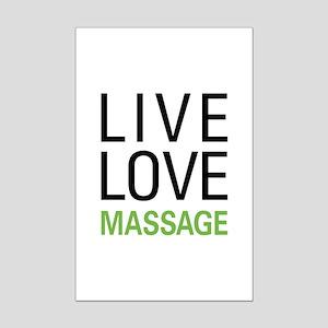 Live Love Massage Mini Poster Print