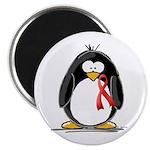 Red Ribbon Penguin Magnet