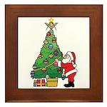 Santa and our star Framed Tile