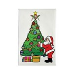 Santa and our star Rectangle Magnet