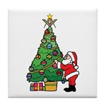 Santa and our star Tile Coaster