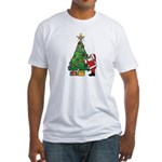 Santa and our star Fitted T-Shirt