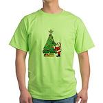 Santa and our star Green T-Shirt