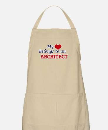 My Heart Belongs to an Architect Apron