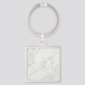 White Marble Keychains