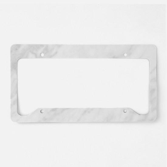 white marble license plate holder - White License Plate Frame