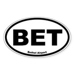Bethel Airport Oval Sticker