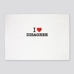 I Love DISAGREE 5'x7'Area Rug