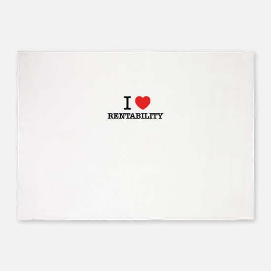 I Love RENTABILITY 5'x7'Area Rug