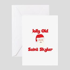 Jolly Old Saint Skylar Greeting Card